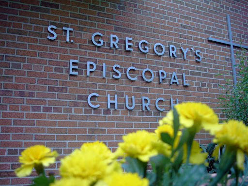 St. Gregory's sign on building